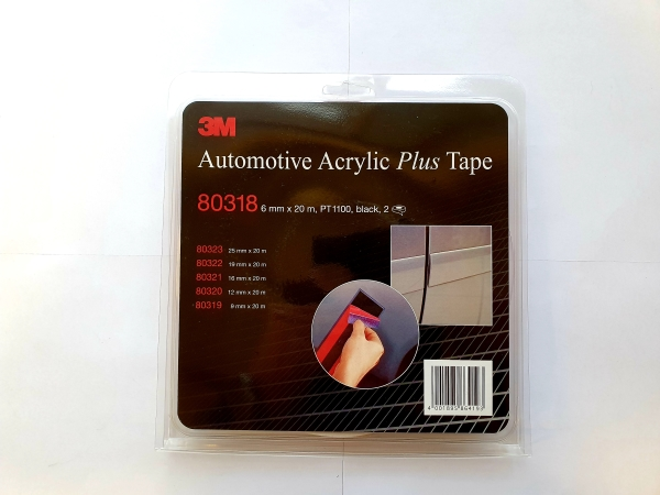 3M80318 ACRYL PLUS TAPE 6mmx20m